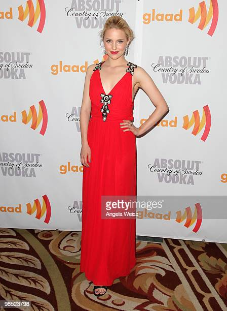 Actress Dianna Agron arrives at the 21st Annual GLAAD Media Awards held at Hyatt Regency Century Plaza on April 17 2010 in Century City California