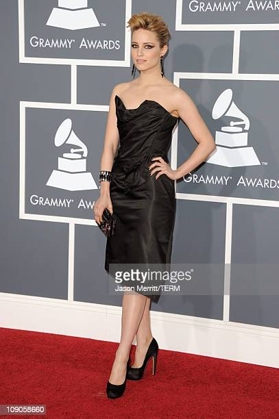 Actress Dianna Agron arrives at The 53rd Annual GRAMMY Awards held at Staples Center on February 13 2011 in Los Angeles California