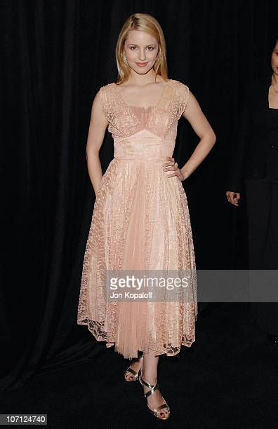 Actress Dianna Agron arrives at the DIC/InStyle's 9th Annual Awards Season Diamond Fashion Show Preview at Beverly Hills Hotel on January 14 2010 in...