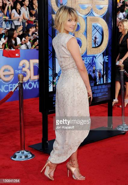 """Actress Dianna Agron arrives at the Los Angeles Premiere """"GLEE: The 3D Concert Movie"""" at Regency Village Theatre on August 6, 2011 in Westwood,..."""