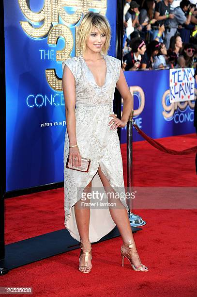 Actress Dianna Agron arrives at the Premiere Of Twentieth Century Fox's Glee The 3D Concert Movie at the Regency Village Theater on August 6 2011 in...