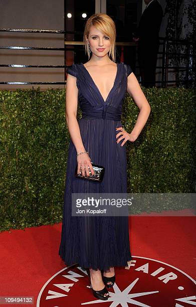 Actress Dianna Agron arrives at the Vanity Fair Oscar Party at Sunset Tower on February 27, 2011 in West Hollywood, California.