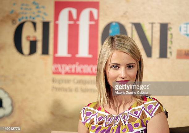Actress Dianna Agron attends 2012 Giffoni Film Festival press conference on July 22 2012 in Giffoni Valle Piana Italy