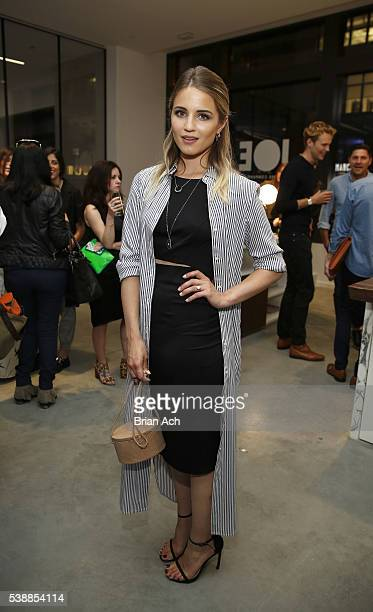 Actress Dianna Agron attends Conde Nast Traveler Celebrates Shorties With Moet Chandon Imperial Minis at Cadillac House on June 8 2016 in New York...