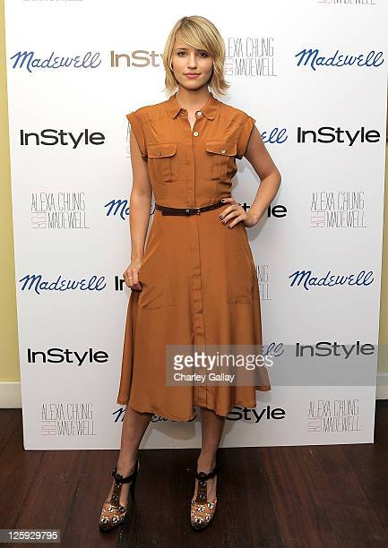 Actress Dianna Agron attends Madewell, Alexa Chung & InStyle celebrate the launch of The Alexa Chung For Madewell Fall 2011 Collection at Chateau...