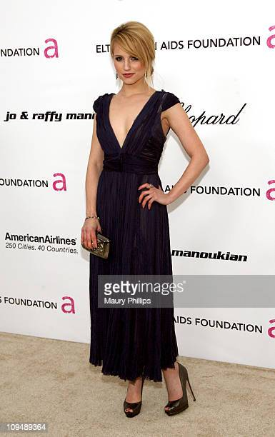 Actress Dianna Agron attends the 19th Annual Elton John AIDS Foundation's Oscar viewing party held at the Pacific Design Center on February 27 2011...