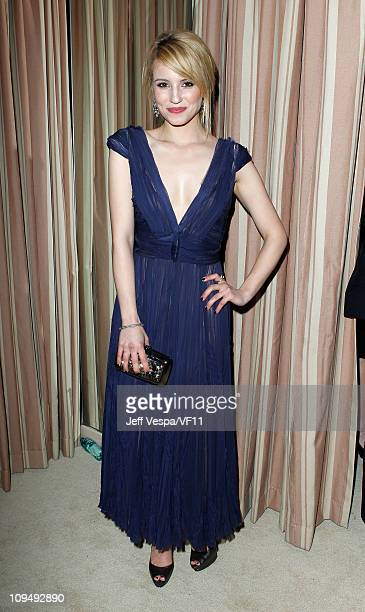 Actress Dianna Agron attends the 2011 Vanity Fair Oscar Party Hosted by Graydon Carter at the Sunset Tower Hotel on February 27 2011 in West...