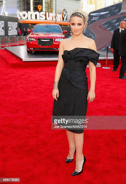 Actress Dianna Agron attends the 2014 American Music Awards red carpet arrivals featuring the AllNew Chrysler 300S at Nokia Theatre LA Live on...