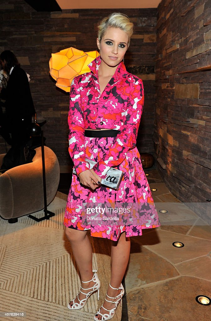 Actress Dianna Agron attends the CFDA/Vogue Fashion Fund evening dinner on October 21, 2014 in Los Angeles, California.