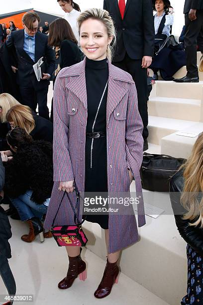 Actress Dianna Agron attends the Louis Vuitton show as part of the Paris Fashion Week Womenswear Fall/Winter 2015/2016 on March 11 2015 in Paris...