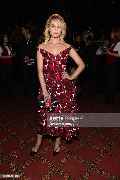 Actress Dianna Agron attends the Marc Jacobs Spring 2016 fashion show during New York Fashion Week at Ziegfeld Theater on September 17 2015 in New...