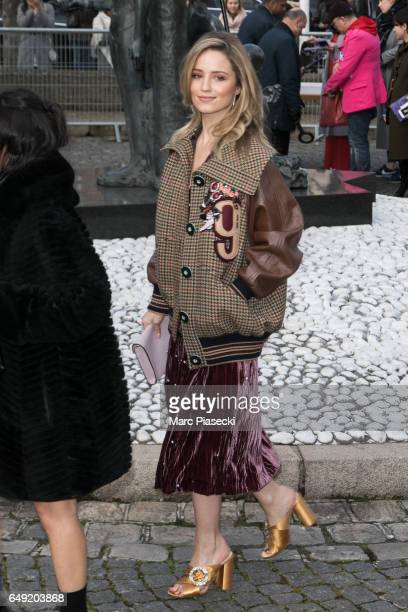 Actress Dianna Agron attends the Miu Miu show as part of the Paris Fashion Week Womenswear Fall/Winter 2017/2018 on March 7, 2017 in Paris, France.