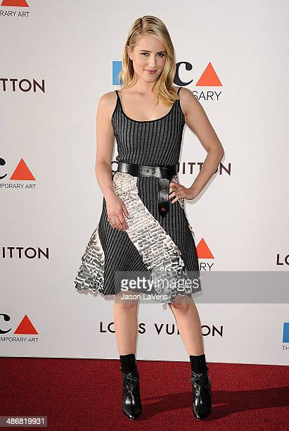 Actress Dianna Agron attends the MOCA 35th anniversary gala celebration at The Geffen Contemporary at MOCA on March 29, 2014 in Los Angeles,...