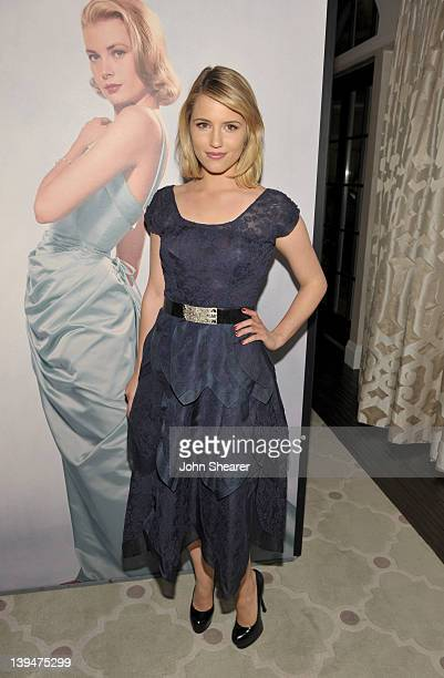 Actress Dianna Agron attends the Montblanc Vanity Fair Party celebrating the Collection Princesse Grace de Monaco at Hotel Bel-Air on February 21,...
