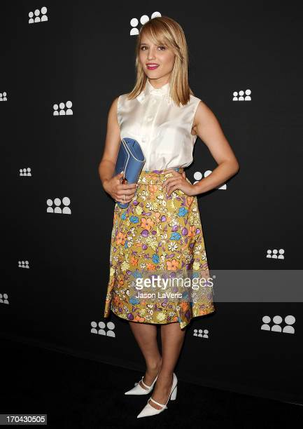 Actress Dianna Agron attends the Myspace artist showcase event at El Rey Theatre on June 12 2013 in Los Angeles California