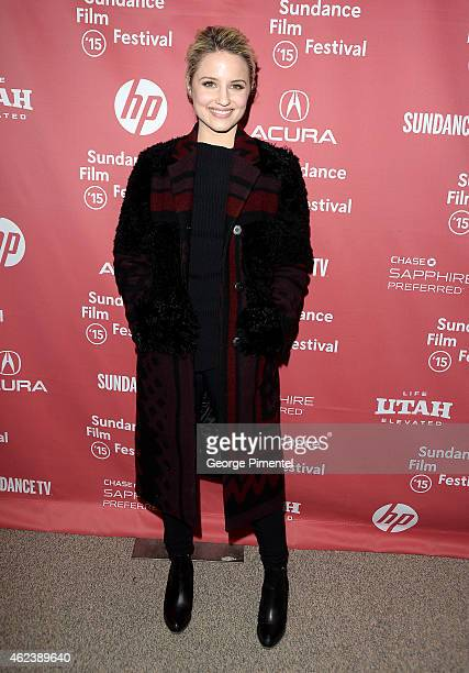 Actress Dianna Agron attends the 'Zipper' premiere during the 2015 Sundance Film Festival on January 27 2015 in Park City Utah