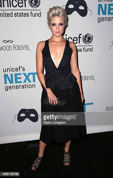 Actress Dianna Agron attends UNICEF's Next Generation's 2nd Annual UNICEF Masquerade Ball at Hollywood Forever Cemetery on October 30, 2014 in Los...