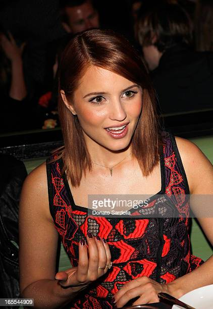 Actress Dianna Agron attends Vogue's Triple Threats dinner hosted by Sally Singer and Lisa Love at Goldie's on April 3 2013 in Los Angeles California