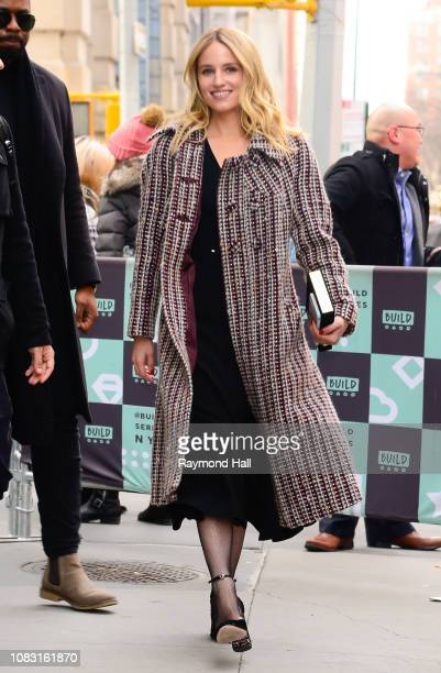 Actress Dianna Agron is seen outside aol live on January 15 2019 in New York City
