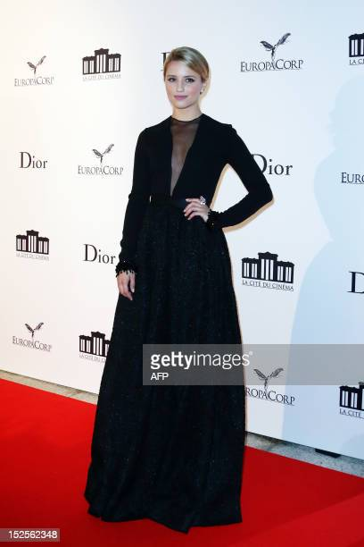 US actress Dianna Agron poses as she arrives to attend the inauguration ceremony of the Cite du cinema a film studios complex heralded as Hollywood à...