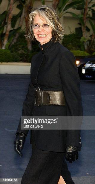 Actress Dianne Keaton arrives for Paramount Studios' 90th Anniversary Party 14 July 2002 in Hollywood Los Angeles AFP PHOTO/Lee CELANO