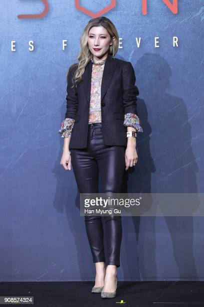 Actress Dichen Lachman attends the press conference for NETFLIX's 'Altered Carbon' on January 22 2018 in Seoul South Korea