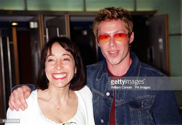 Actress Didi Conn and actor Michael Rodgers stars of the children's film Thomas and the Magic Railroad at the movie's world charity premiere at the...
