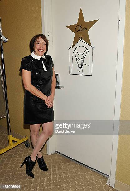 Actress Didi Conn appears back stage after performing 'Summer Nights' with Olivia NewtonJohn at Flamingo Las Vegas on January 3 2015 in Las Vegas...
