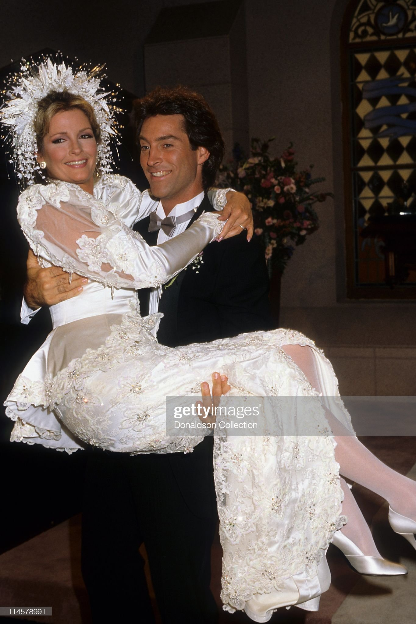 actress-dierdre-hall-and-actor-drake-hogestyn-in-days-of-our-lives-picture-id114578991
