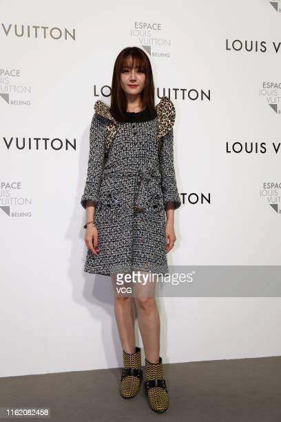 Actress Diliraba Dilmurat attends Louis Vuitton 'COMING OF AGE' exhibition on July 12 2019 in Beijing China