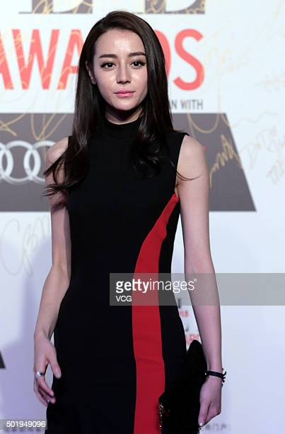 Actress Dilraba Dilmurat arrives at the red carpet of the 2015 Elle Style Awards on December 18 2015 in Shanghai China