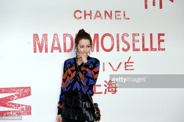 Actress Dilraba Dilmurat attends Chanel 'Mademoiselle Prive' exhibition opening ceremony at West Bund Art Center on April 18 2019 in Shanghai China