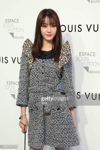Actress Dilraba Dilmurat attends Louis Vuitton Coming of Age exhibition on July 12 2019 in Beijing China