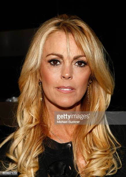 Actress Dina Lohan arrives at the launch of A/X Watches at the SLS Hotel on April 15 2009 in Los Angeles California