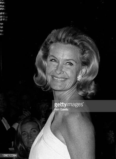 Actress Dina Merrill and actor Cliff Robertson attend Front Page Dinner Dance on November 8 1968 at the Americana Hotel in New York City