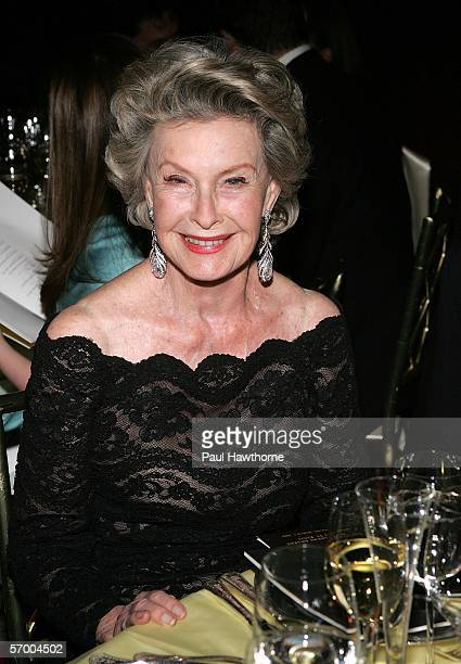 Actress Dina Merrill attends the Academy of Motion Picture Arts & Sciences New York Oscar Night Celebration at The St. Regis Hotel March 5, 2006 in...