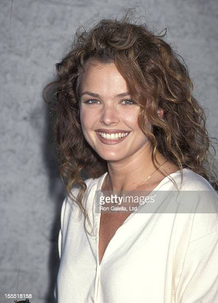 Actress Dina Meyer attends the Desperado Westwood Premiere on August 21 1995 at Mann National Theatre in Westwood California