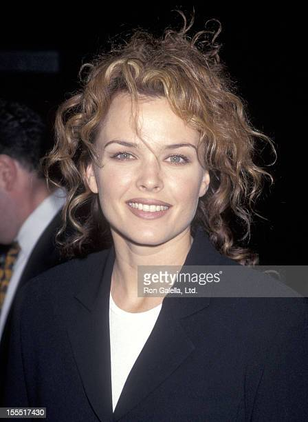 Actress Dina Meyer attends the Donnie Brasco Century City Premiere on February 24 1997 at Cineplex Odeon Century Plaza Cinemas in Century City...