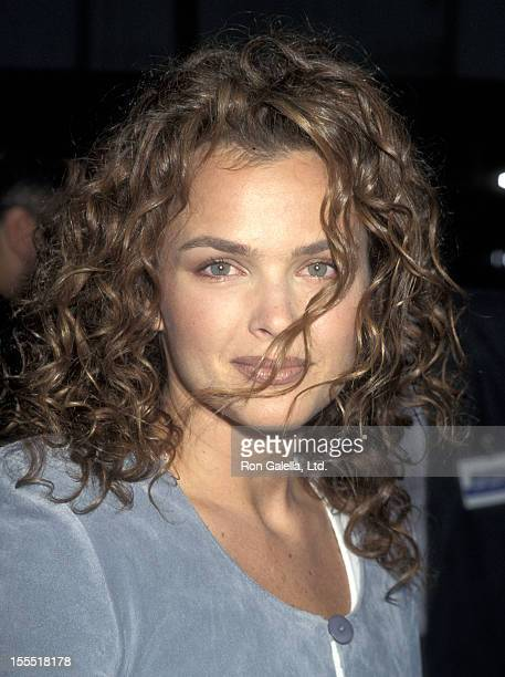 Actress Dina Meyer attends the Johnny Mnemonic Beverly Hills Premiere on May 17 1995 at Academy Theatre in Beverly Hills California