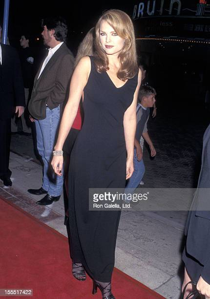 Actress Dina Meyer attends the Starship Troopers Westwood Premiere on November 5 1997 at Mann Village Theatre in Westwood California