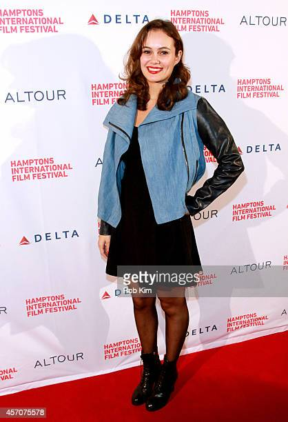 Actress Dina Shihabi attends the Amira Sam premiere during the 2014 Hamptons International Film Festival on October 11 2014 in East Hampton New York
