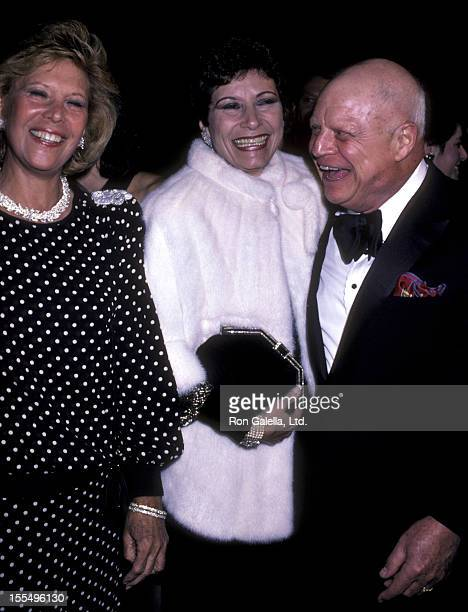 Actress Dinah Shore comic Don Rickles and wife Barbara Sklar attend the premiere of Crimes Of The Heart on December 3 1986 at the Plitt Theater in...