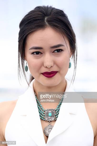 Actress Dinara Baktybaeva attends 'The Gentle Indifference Of The Word' Photocall during the 71st annual Cannes Film Festival at Palais des Festivals...