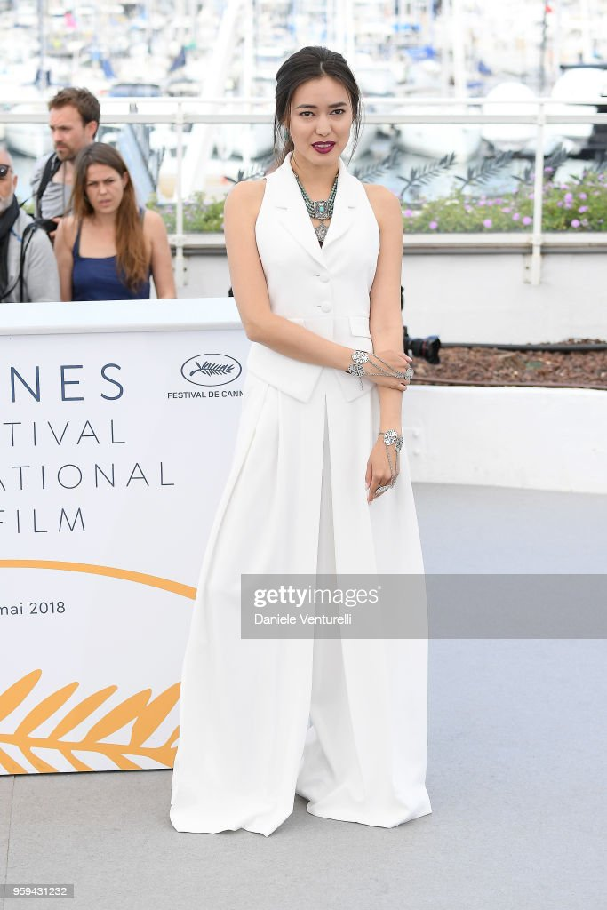 Actress Dinara Baktybaeva attends the photocall for the 'The Gentle Indifference Of The Word' during the 71st annual Cannes Film Festival at Palais des Festivals on May 17, 2018 in Cannes, France.