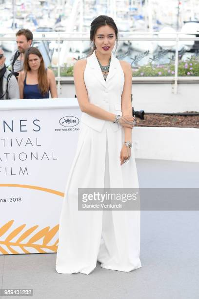 Actress Dinara Baktybaeva attends the photocall for the 'The Gentle Indifference Of The Word' during the 71st annual Cannes Film Festival at Palais...