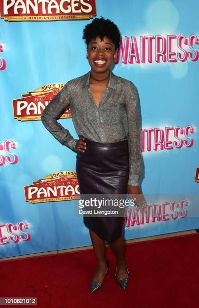 Actress Diona Reasonover attends the national tour of Waitress Los Angeles engagement celebration at the Hollywood Pantages Theatre on August 3 2018...