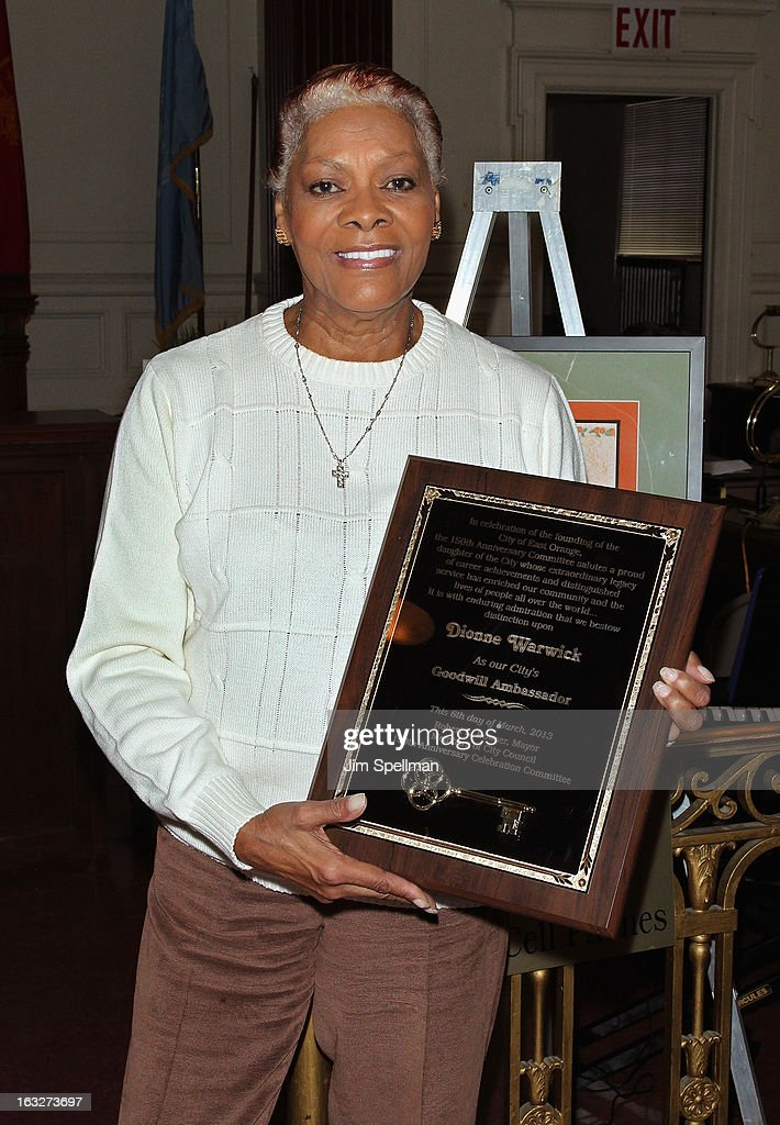 Actress Dionne Warwick attends the 150th Anniversary of East Orange, New Jersey at Council Chambers on March 6, 2013 in East Orange, New Jersey.
