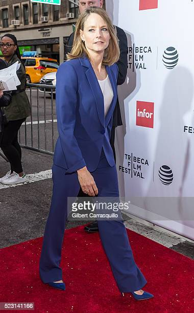 Actress director and producer Jodie Foster attends 'Taxi Driver' 40th Anniversary Celebration during 2016 Tribeca Film Festival at The Beacon Theatre...