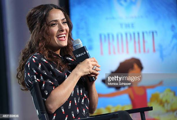 """Actress, director and producer Salma Hayek speaks at AOL BUILD Speaker Series: """"Kahlil Gibran's The Prophet"""" at AOL Studios In New York on August 6,..."""
