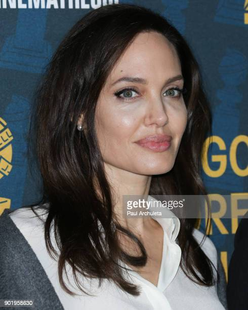 Actress / Director Angelina Jolie attends the HFPA and American Cinematheque present The Golden Globe ForeignLanguage Nominees Series 2018 Symposium...